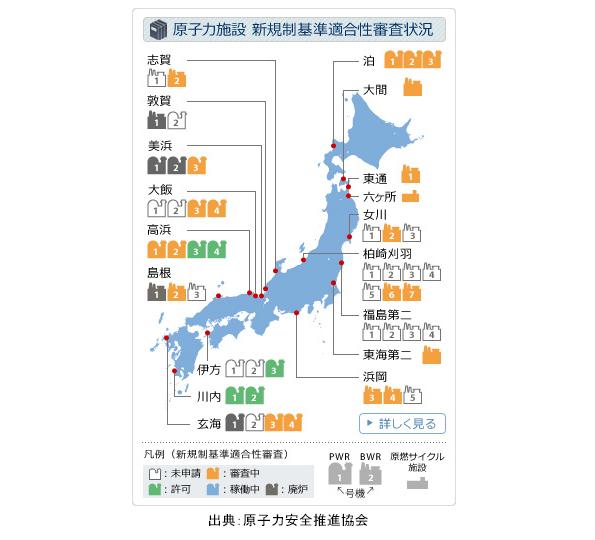 「原発ゼロ」終了 九州電力の川内原発が再稼働