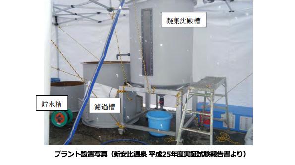 温泉の排水に含まれる「ほう素」 今年も環境省が除去技術を公募