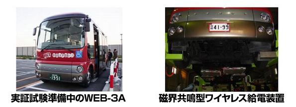 ワイヤレス充電できる電動バス、公道での走行試験スタート 早大・東芝が開発