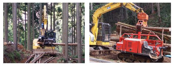 木質バイオマス利用の鍵、「搬出」 滋賀県が高性能林業機械の研修会を開催