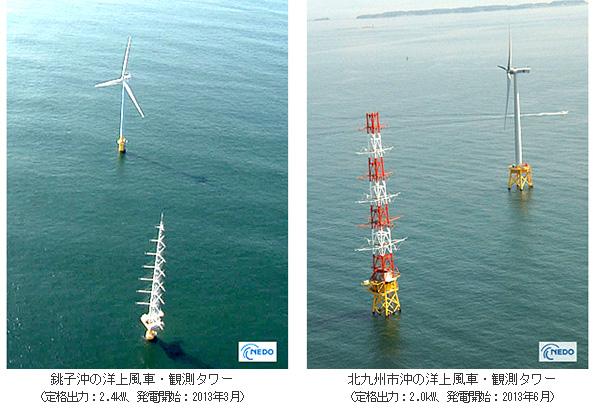 NEDO、洋上風力発電の観測データを公表 銚子沖・北九州沖の研究成果