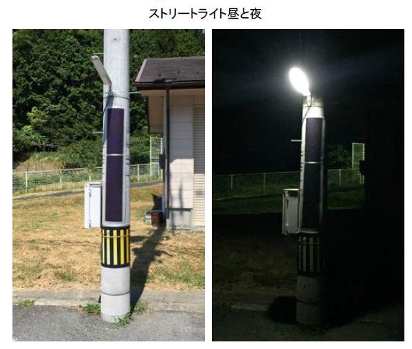 無電化地域を照らす電源不要の街路灯 曲げられる太陽電池+LED照明+蓄電池