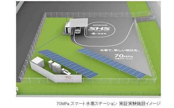 最新型の水素ステーション、世界初の充填圧力70MPaで実証実験スタート