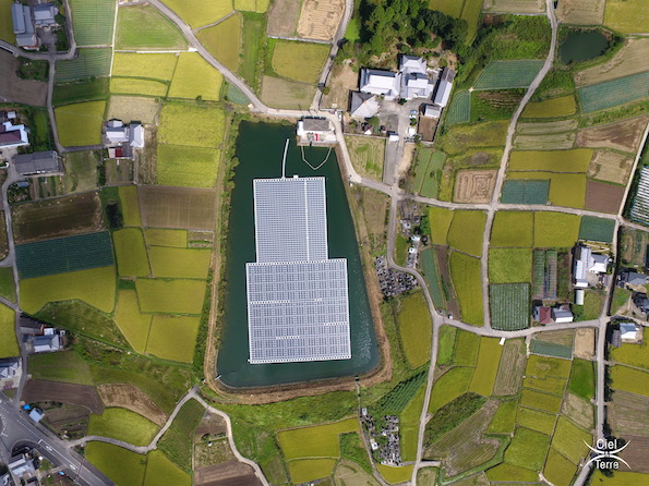 徳島県で初の水上太陽光発電所が稼働 フロート架台はやっぱりあの会社