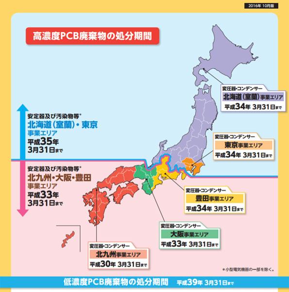 中国・四国・九州・沖縄のタイムリミットはあと500日 PCB使用製品・廃棄物