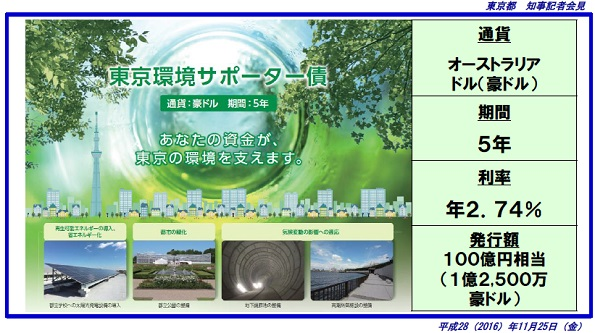 東京環境サポーター債、初日だけで100億円完売 太陽光発電や津波防御施設に
