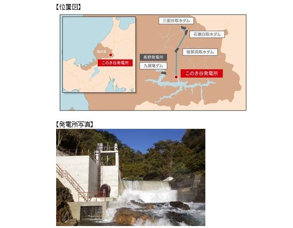 福井県・九頭竜ダムに小水力発電所 電源開発、今後も増やしていく方針