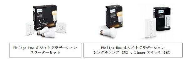 フィリップスのスマートLED照明Hue、新製品「ホワイトグラデーション」発売