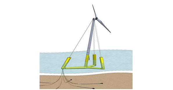浮体式洋上風力発電の低コスト化に向けた新技術 九州大学などが開発へ