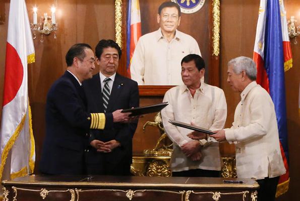 安倍首相・ドゥテルテ大統領も立ち合い フィリピンがJCM署名国に