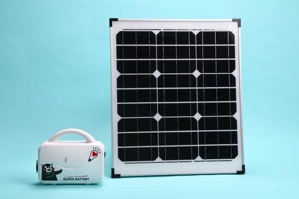 ポータブル太陽光発電システム「くまモンナノ発電所」販売開始