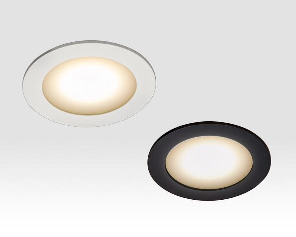 ウシオライティングの新型LEDダウンライト 電源内蔵で薄さ20.5mm