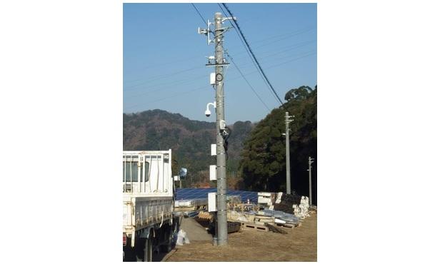 施工中のメガソーラーも盗難監視 赤外線カメラと無線LANでメール通知