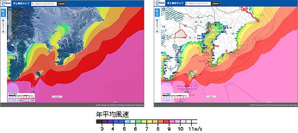 NEDO、洋上風況マップ(全国版)を公開 データもダウンロード可能