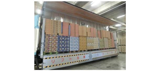 軽量物+重量物混載の共同配送、CO2排出量を約50t削減 積載効率もUP