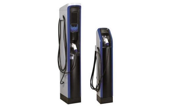 充電電力を自動制御してピークカットするEV充電スタンド、実験スタート