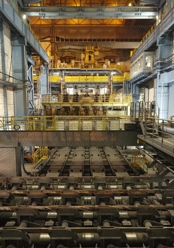 プロジェクトの肝として導入された連続鋳造設備