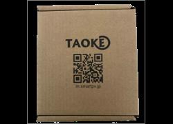 製品の箱に設定するためのQRコードがついている。読み取るだけで設定が完了する