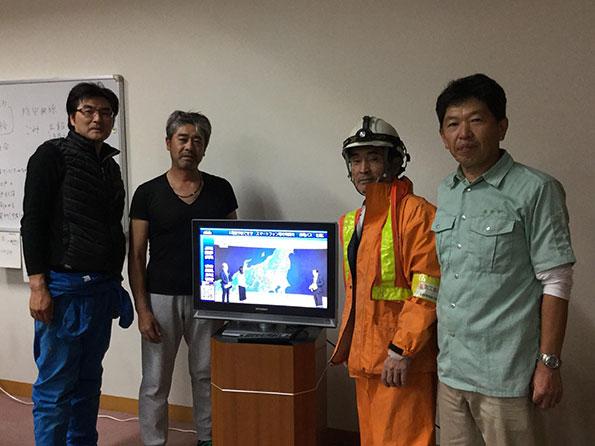 台風被災地にハイブリッド式給電システム無償貸与 長野