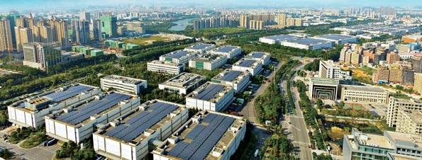 2014年に運転開始した、同社の深圳工場に設置された太陽光発電所(17.5MWp)