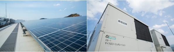 太陽光と発電機