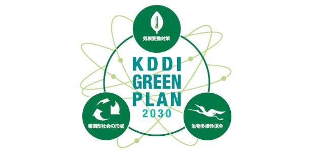 KDDI、2030年度までにCO2排出量を50%削減